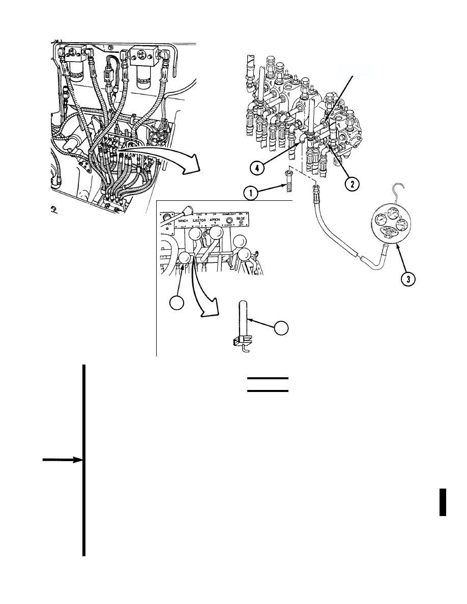 winch control valve hydraulic pressure check